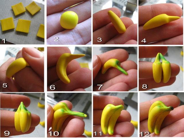 Фрукты из полимерной глины мастер класс